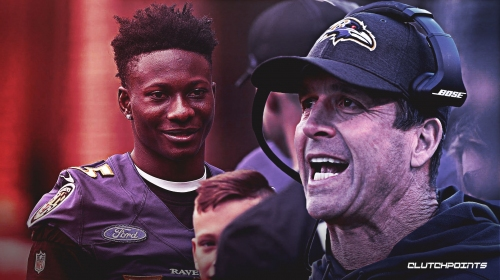 Ravens coach John Harbaugh thinks rookie Marquise Brown will ready for camp