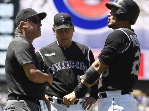 Nolan Arenado starting vs Padres a day after exiting game due to left forearm contusion