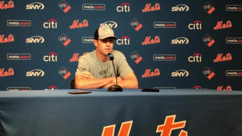 Jacob deGrom discusses Thursday's outing in suspended game