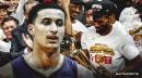 Lakers' Kyle Kuzma reacts to Raptors winning the title