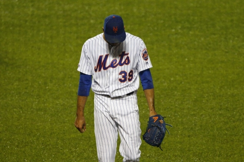 Final Score — Cardinals 5, Mets 4 — Rain Dismay