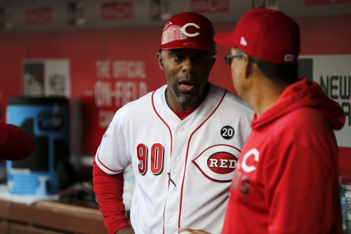 Cincinnati Reds' Delino DeShields looks forward to Father's Day weekend reunion with son