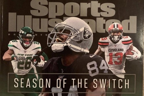 Antonio Brown in Raiders gear gets feature spot on cover of Sports Illustrated