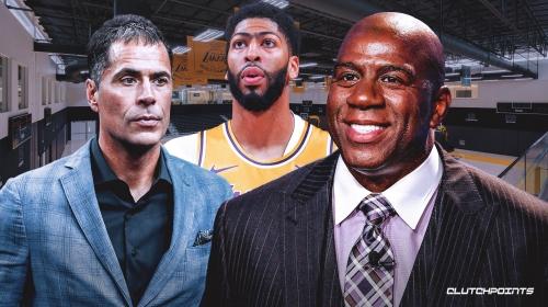 Ex-Lakers president Magic Johnson reacts to Rob Pelinka's 'great' Anthony Davis trade