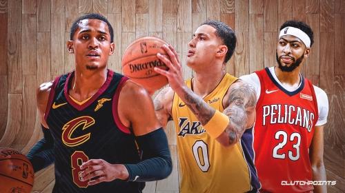 Jordan Clarkson reacts to Kyle Kuzma surviving Lakers' Anthony Davis trade