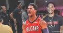 Josh Hart spotted wearing Pelicans shirt less than 24 hours after trade