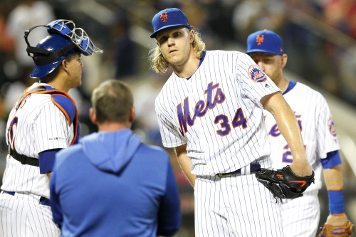 Mets hang on for crazy-looking win after losing Noah Syndergaard