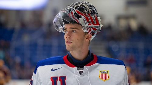 Spencer Knight on track to join exclusive goalie group at 2019 NHL Draft