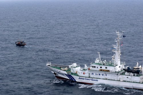 Japan pushes 300 North Korean boats out of fishing grounds