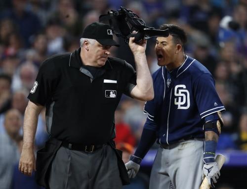 Padres' Manny Machado denies bumping umpire during Rockies game, to appeal 1-game ban
