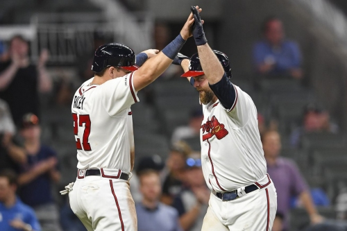 Braves stick with same lineup for game two versus Mets