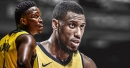 Pacers' Victor Oladipo reacts to Thaddeus Young leaving for the Bulls