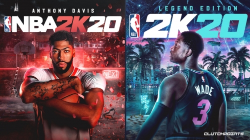 Anthony Davis, Dwyane Wade featured on NBA 2K20 covers