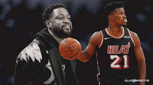 Dwyane Wade welcomes Jimmy Butler to Heat, jokes he can't take his locker or jersey number