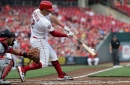 Kyle Farmer just fine behind the plate for the Cincinnati Reds