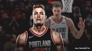 Meyers Leonard found out he'd been traded by the Blazers to the Heat on Twitter