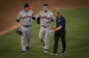 Astros fizzle in Arlington. Rangers pounce in 1st inning to win 5-0.
