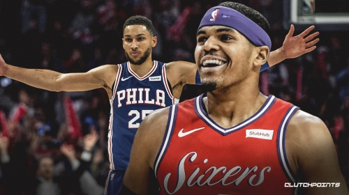 Sixers' Tobias Harris says Ben Simmons hit multiple 3-pointers over him in 1-on-1
