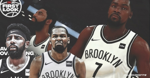 Nets' Kevin Durant, Kyrie Irving are third-highest rated duo in NBA 2K20