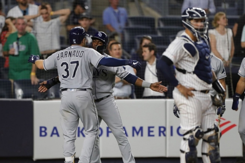 Rays 5, Yankees 4: d'Arnaud launches three homers in the game of the year
