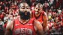 Rockets' James Harden insists rumors of tension with Chris Paul is 'false talk'