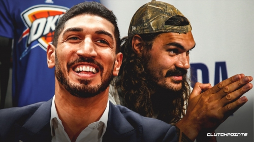 Ex-Thunder big man Enes Kanter celebrates Steven Adams' birthday with hilarious video montage