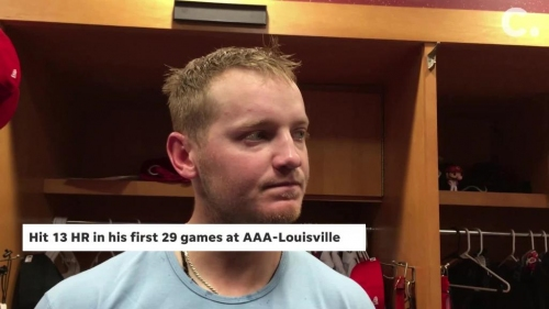 Josh VanMeter on his 1st career home run in Cincinnati Reds' win over St. Louis Cardinals