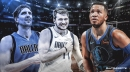 Mavs' Jalen Brunson pokes fun at Luka Doncic and Dirk Nowitzki, says race between the two will be a 'photo finish'