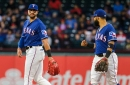 Weeks away from swinging a bat, Rangers' Joey Gallo still intent on returning this season