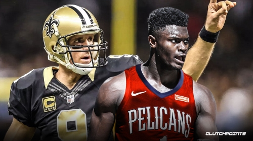 Saints QB Drew Brees vows to 'always be there' for Pelicans' Zion Williamson