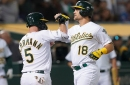 Takeaways: Pinder, Canha come up big for A's when needed in win over Cardinals