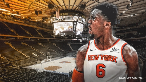 Knicks forward Bobby Portis reacts to his NBA 2K20 rating