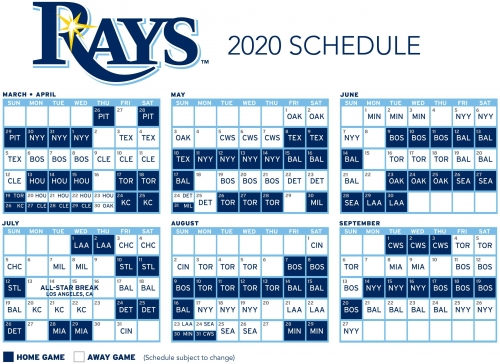 Rays will finish 2020 season with high-profile games against Yankees, Red Sox