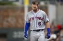 Jeff McNeil leaves game against Braves with hamstring injury