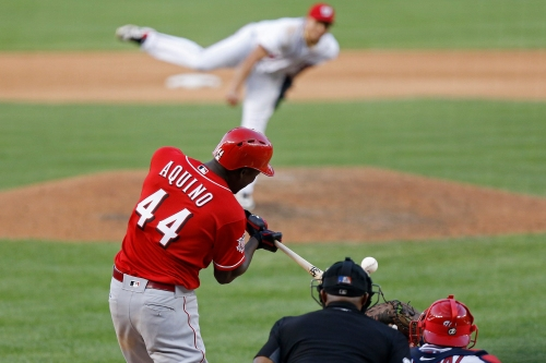 Cincinnati Reds rookie Aristides Aquino continues his record pace with another homer