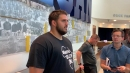 Michigan's Jon Runyan Jr. discusses how OL is coming along, big injury