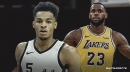 Spurs' Dejounte Murray reminds Lakers' LeBron James that he has never lost to him