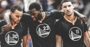 Warriors GM Bob Myers says it's 'comforting' to have Stephen Curry, Klay Thompson, Draymond Green after losing Kevin Durant