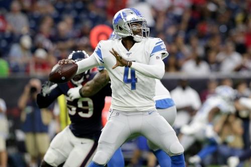 Detroit Lions play uninspiring football again in preseason loss to Texans