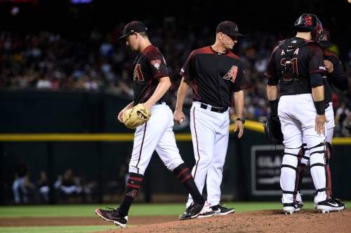 Diamondbacks pitching hammered in loss to Giants