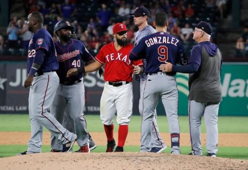 Josh Hamilton's speech and anunnecessary bench-clearing highlight Rangers' 12-7 loss to Minnesota