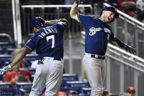 Brewers somehow beat Nationals 15-14 in seesawing slugfest that lasts 14 innings