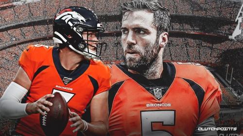 Broncos QB Drew Lock 'confident' he can be Joe Flacco's backup
