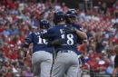 Brewers salvage series with rain-shortened 5-3 win over Cardinals