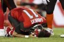 Bucs backup quarterback Blaine Gabbert suffers shoulder injury