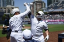 Padres win weird one, avoid sweep by Red Sox