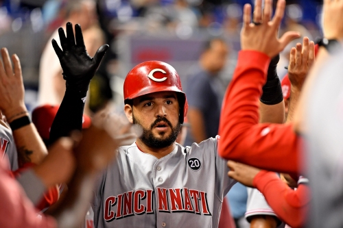Eugenio Suárez, Curt Casali, Nick Senzel homer to lead Cincinnati Reds to win vs. Miami Marlins