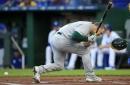 Matt Chapman departs game, Tanner Roark gives up two home runs in Athletics' loss to Kansas City