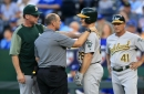 Matt Chapman avoids concussion protocol, but his presence was sorely missed in Athletics' loss to Royals