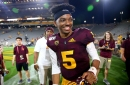 ASU quarterback Jayden Daniels lukewarm in own assessment of his first game
